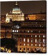 Beautiful Roman Night  Canvas Print
