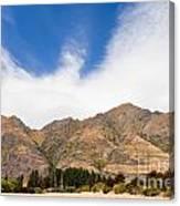Beautiful Roys Peak Near Wanaka In Southern Alps Of New Zealand Canvas Print