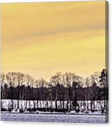 Beautiful Sky Just Before Sunset Canvas Print