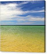 Beautiful St George Island Water Canvas Print