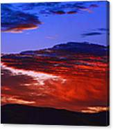 Beautiful Sunrise In Boise Canvas Print