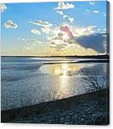 Beautiful Sunset Iowa River Canvas Print