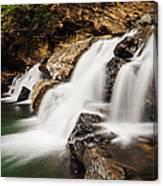 Beautiful Waterfall In Western Ghats Karnataka India Canvas Print
