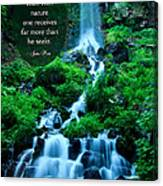Beautiful Waterfalls Through A Walk With Nature Canvas Print