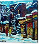 Beautiful Winter Evening Canvas Print