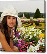 Beautiful Young Woman In Paris Canvas Print