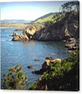 Beautifully Rugged Shoreline At Point Lobos Two Canvas Print