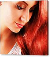 Beauty In Red Hair Canvas Print