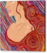 Beauty Of Hair Abstract Canvas Print