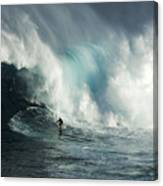 Beauty Of Surfing Jaws Maui 7 Canvas Print