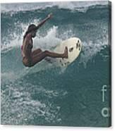 Beauty On A Surf Board Canvas Print