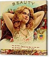 Beauty Vintage Cigar Advertisement  Canvas Print