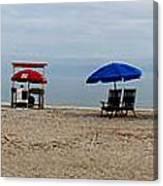 Beach Chairs Panorama Hilton Head  Canvas Print