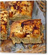 Bechamel And Roasted Garlic Focaccia  Canvas Print