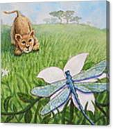 Beckoning The Little Predator To Come Closer Canvas Print