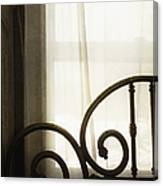 Bed By The Window Canvas Print
