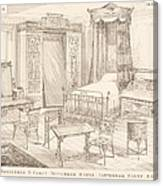 Bedchamber Furniture In The Japanese Canvas Print