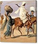 Bedouin Family Travels Across The Desert Canvas Print