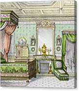 Bedroom In The Renaissance Style Canvas Print