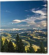 Panoramic View Of The Foothills Canvas Print