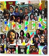 Bee Gees History Montage Canvas Print