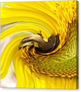 Bee Twirl Canvas Print