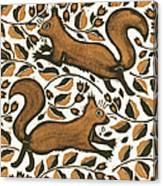 Beechnut Squirrels Canvas Print