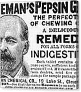 Beemans Pepsin Gum, 1895 Canvas Print