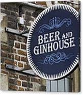 Beer And Ginhouse Canvas Print