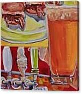 Beer And Pork Sliders Canvas Print