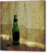 Beer Bottle On Windowsill Canvas Print