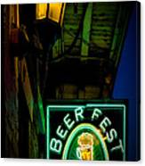 Beer Fest And Lamp Canvas Print