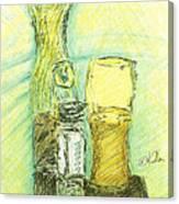 Beer N Nuts Canvas Print