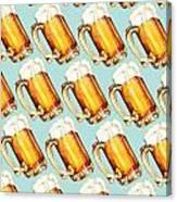 Beer Pattern Canvas Print