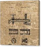 Beer Tap Patent Canvas Print