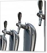 Beer Tap Row Isolated Canvas Print