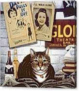 Beerbohm, The Theatre Cat Oil & Tempera On Panel Canvas Print