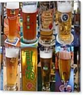 Beers Of Europe Canvas Print