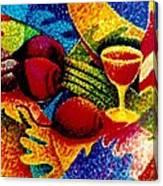 Beet Salad Pointillism Canvas Print