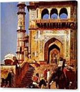 Before A Mosque 1883 Canvas Print