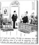 Before I Read Our Verdict Canvas Print