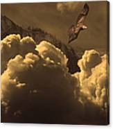 Before Memory . I Have Soared With The Hawk Canvas Print