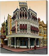 Before The Gates Open Magic Kingdom Main Street. Canvas Print