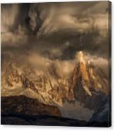 Before The Storm Covers The Mountains Spikes Canvas Print