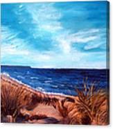 Before The Tumble At Chapin Beach Canvas Print