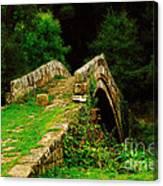 Beggars Bridge In Glaisdale North Yorkshire Canvas Print