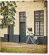 Begijnhof Bicycle Canvas Print