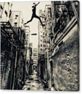 Behind Street Canvas Print