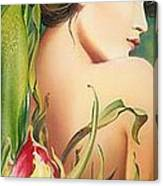 Behind The Curtain Of Colours -the Tulip Canvas Print