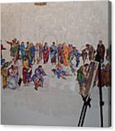 Behind The Scenes Mural 7 Canvas Print